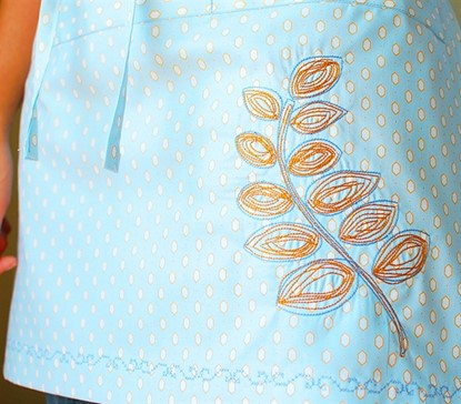 Picture of Scribbled Vine Applique & Stitched
